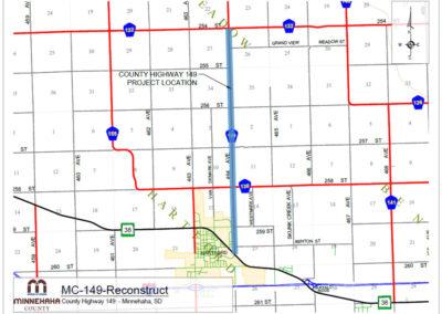 Minnehaha County Highway map